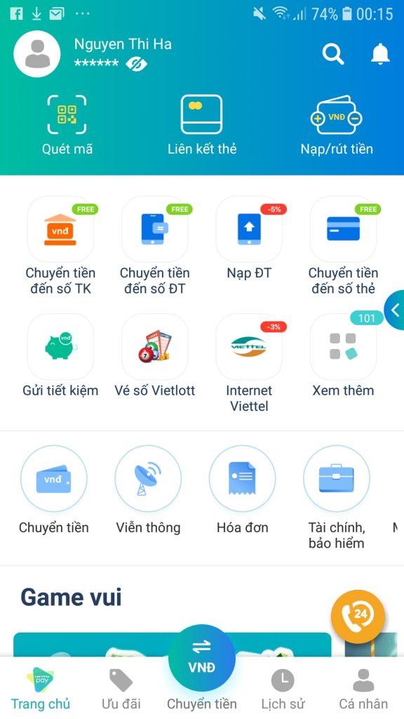 Liên kết thẻ MBBank với ViettelPay rút tiền miễn phí