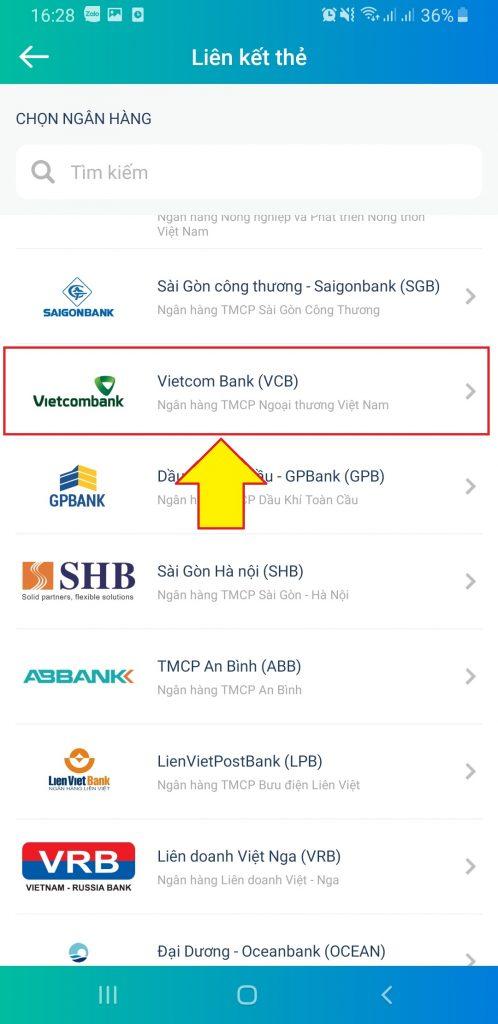 Liên kết ngân hàng Vietcombank với ViettelPay
