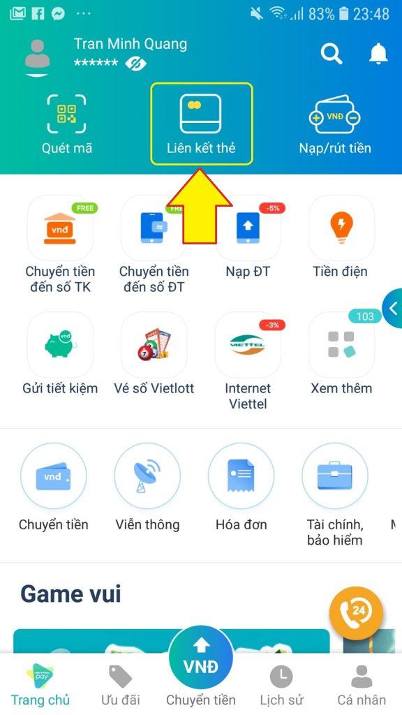 Rút tiền ATM Bảo Việt Bank miễn phí bằng cách liên kết ViettelPay