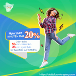 Viettel Khuyến mãi 25% thẻ nạp ngày 10/7/2019 trên ViettelPay