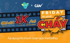 ViettelPay mua vé CGV chỉ 1K